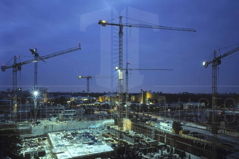Baustelle Potsdamer Platz und Sony Center